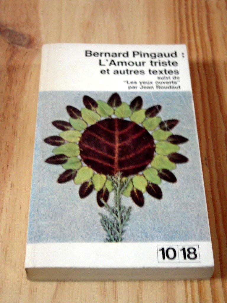 Lamour Triste Et Autres Textes Amazones Pingaud Bernard