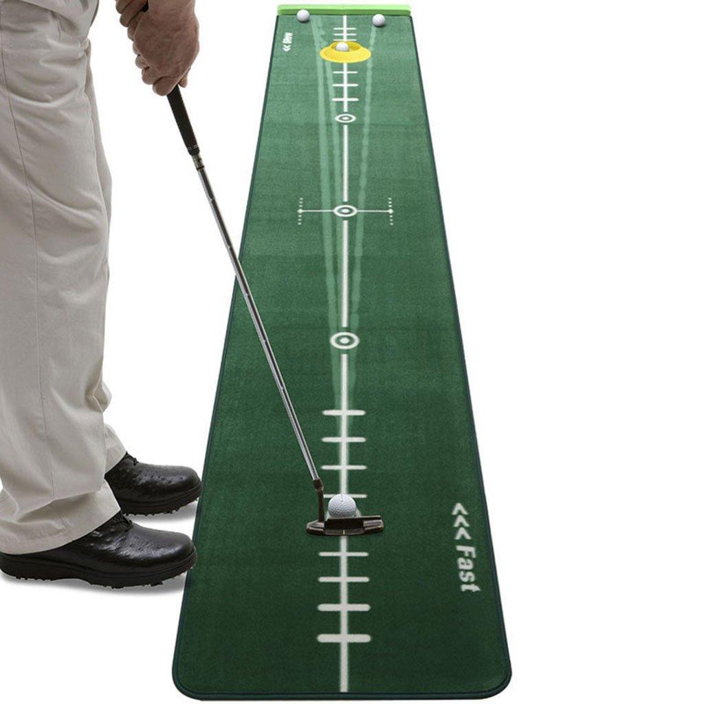 屋内ゴルフパッティング練習オフィスホームゴルフ緑ゴルフパッティング練習用毛布 (Color : Green, Size : 300 * 50cm) 300*50cm Green B07H4JSR3N