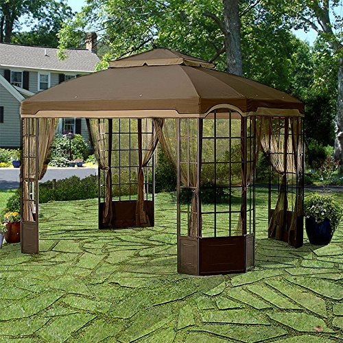 OPEN BOX- Replacement Canopy To Cover for 10' x 12' Bay Window Gazebo