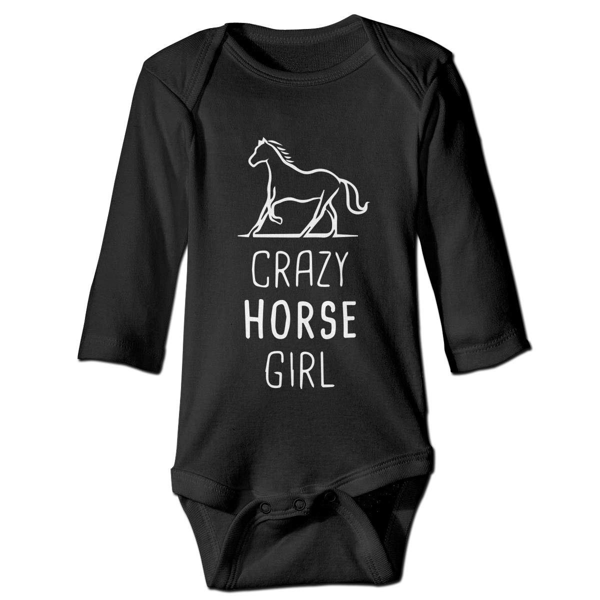 A14UBP Newborn Baby Boys Girls Romper Bodysuit Infant Crazy Horse Girl Long Sleeve Funny Baby Clothes