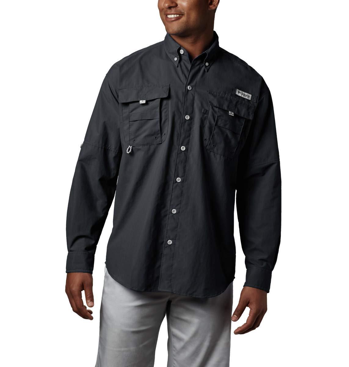 Columbia Men's PFG Bahama II Long Sleeve Shirt , Black, Large