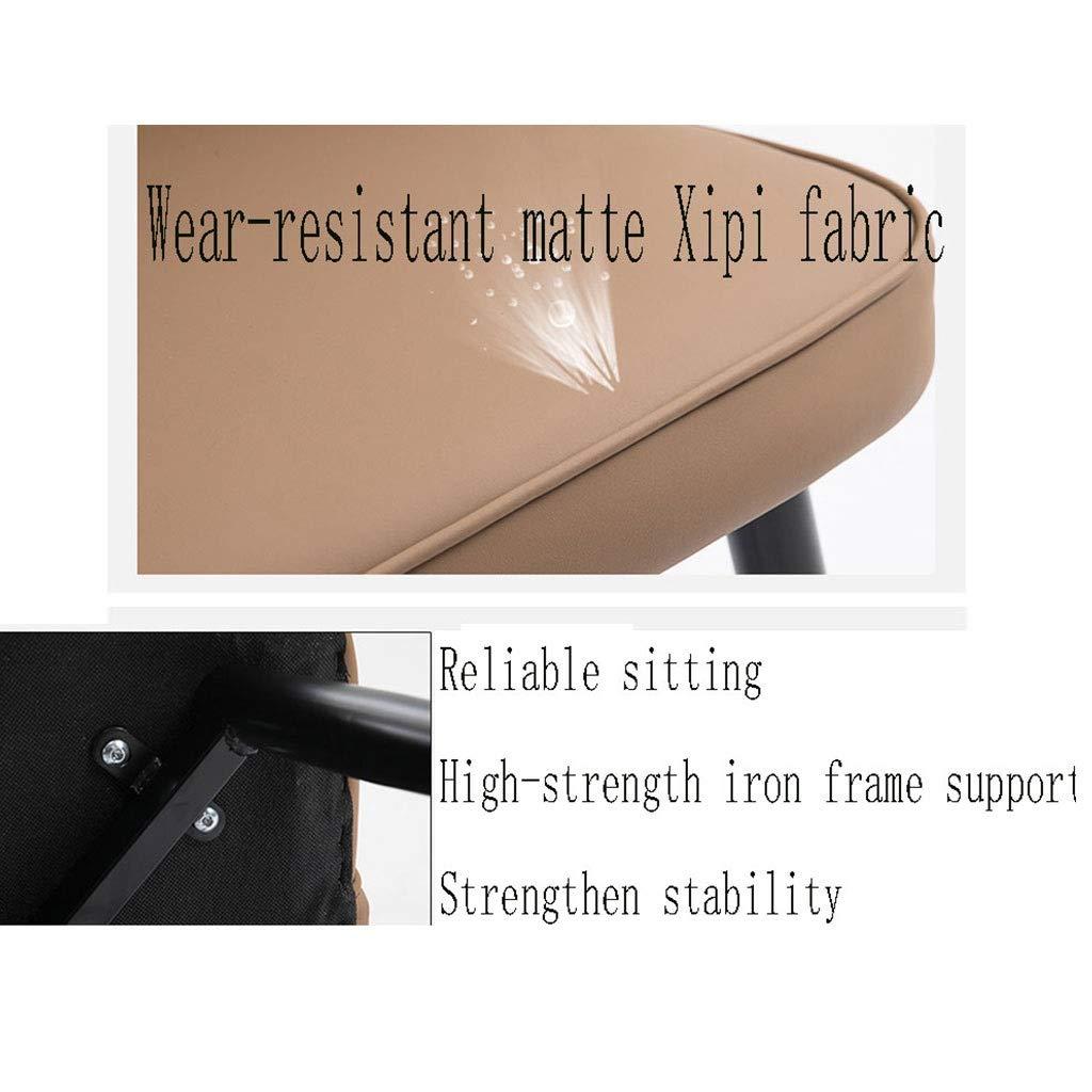 HEJINXL matrumsstol läder köksstol 2 set ryggstöd tjockt smidesjärn gäller fritidskafé stol bord och stol dator arbetsstol (färg: B) E