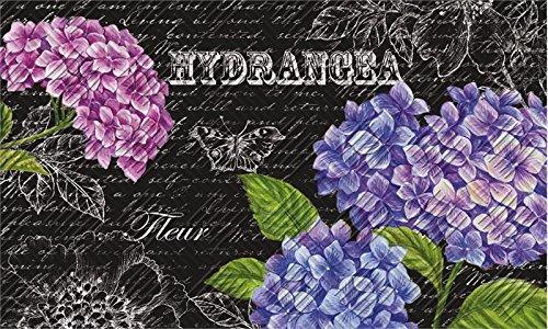 Evergreen 41EM2146 Beautiful Hydrangeas Embossed Floor Mat, 18
