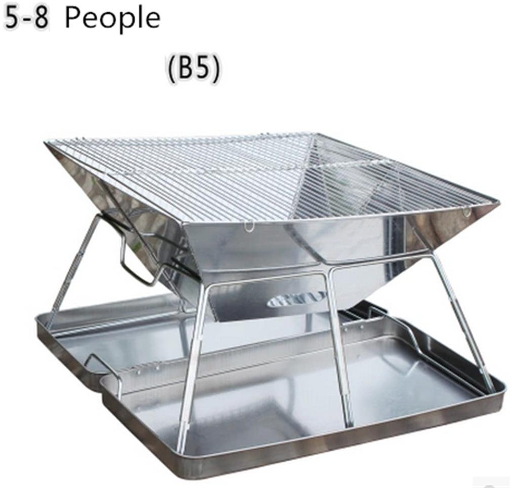 Grills Out Grills Camping Outdoor Grill BBQ Utensil Stainless Steel Pedestal Charcoal Barbecue Portable Folding Legs a BBQ Grill , 2