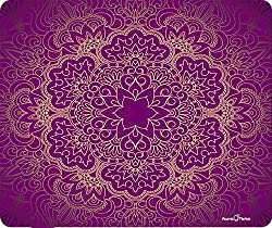 Purple Mandala Flower Pattern Thick Mousepad By Atomic Market
