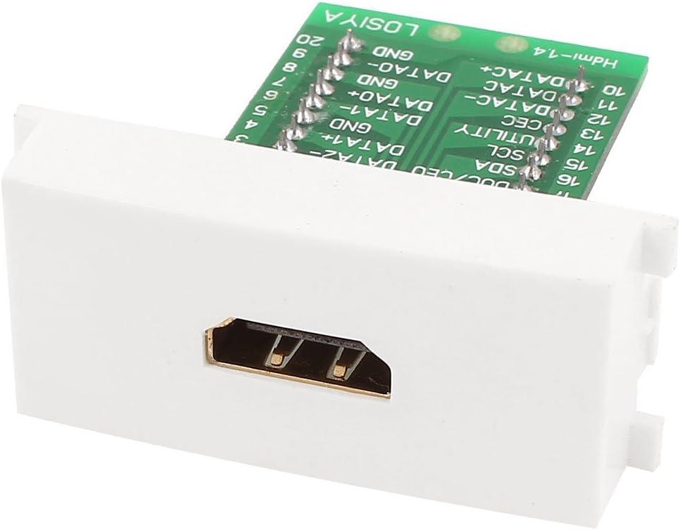 DealMux Placa del Panel de Pared del módulo de terminales de Tornillo plástico Blanco de la Hembra de HDMI: Amazon.es: Electrónica