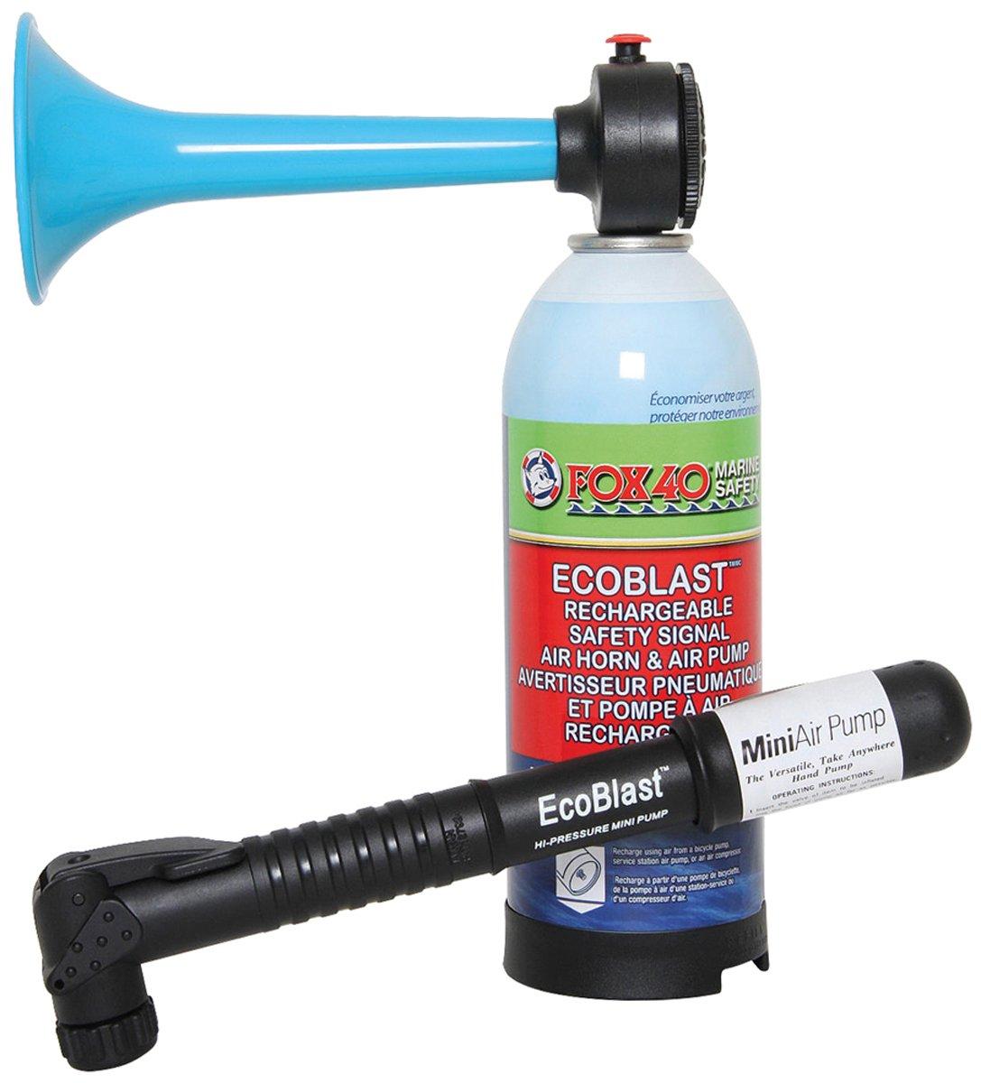Fox 40 Sports Safety Hand Held Horn High Pressure Ecoblast Air Horn + Mini Pump