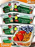 #7: [5-Pack,36oz] Glass Meal Prep Containers Glass - Food Storage Containers with Lids - Food Containers Food Prep Containers Glass Storage Containers with lids Glass Containers Glass Lunch Containers