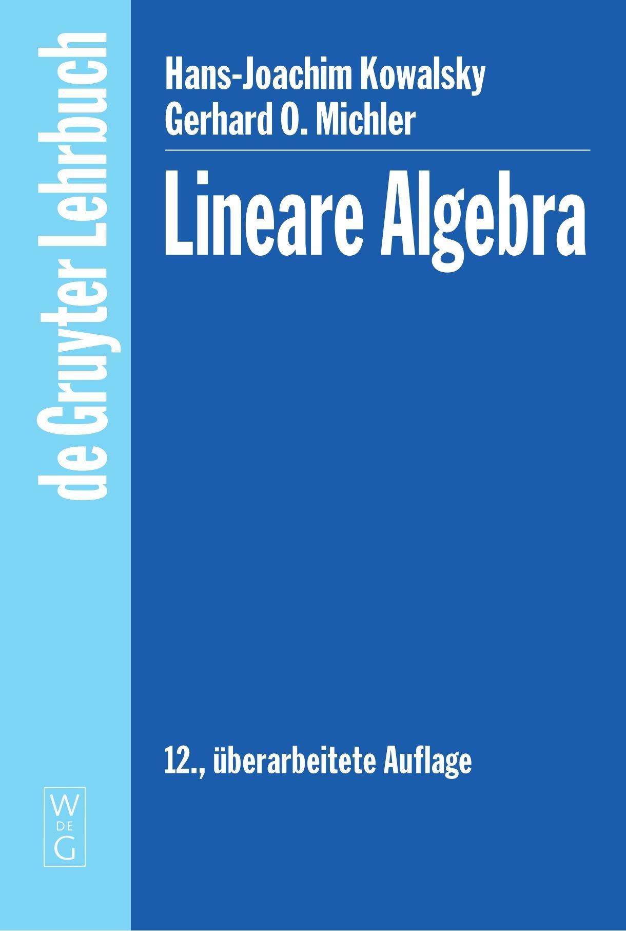 Lineare Algebra (De Gruyter Lehrbuch)