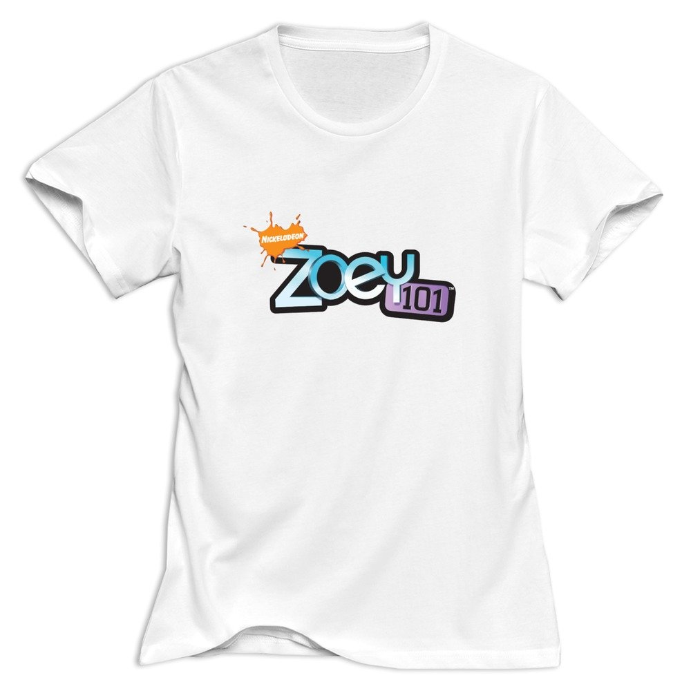 Zoey 101 Logo Retro 100 Cotton White T Shirts For Adult