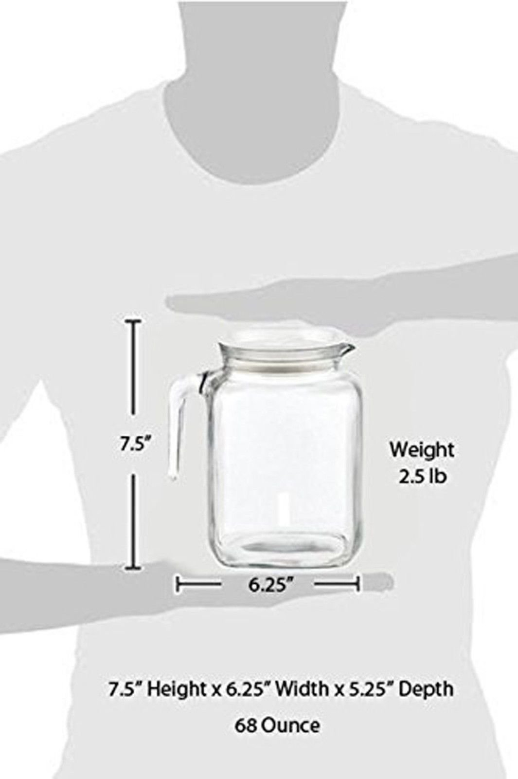 Bormioli Rocco Hermetic Seal Glass Pitcher With Lid and Spout [68 Ounce] Great for Homemade Juice & Iced Tea or for Glass Milk Bottles by Bormioli Rocco (Image #7)