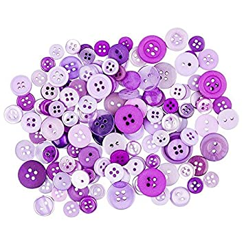 Mixed Colourful Plastic Buttons Assorted Shapes Sewing Shirts Arts Crafts Card
