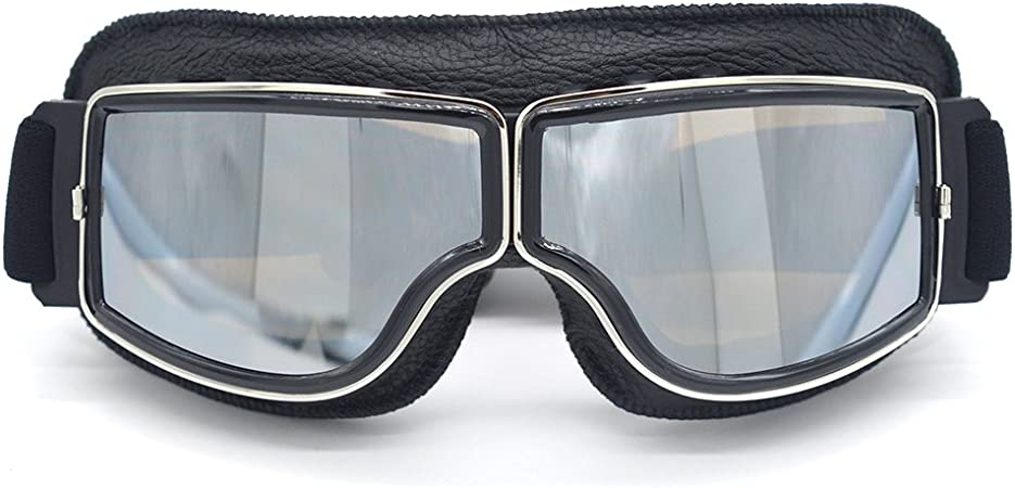 Evomosa Motorradbrillen Motorräder Retro Pilot Nebelsichere Brille Atv Bike Motocross Brille Schutzbrille Auto