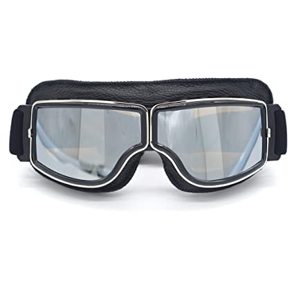 20d1583c9b403 Image Unavailable. Image not available for. Color  evomosa Motocross  Motorcycle Riding Goggles ATV Dirt Off-Road Vintage Scooter Pilot ...