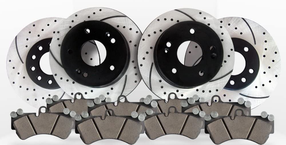 Front /& Rear Kit Approved Performance G22446 Performance Drilled//Slotted Brake Rotors and Ceramic Pads