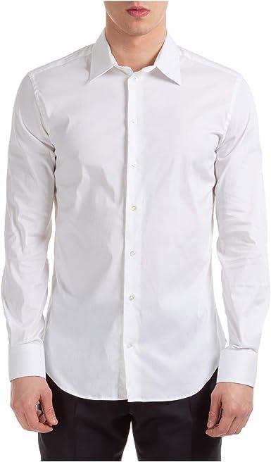 Emporio Armani Hombre Camisa White 40 cm: Amazon.es: Ropa y accesorios