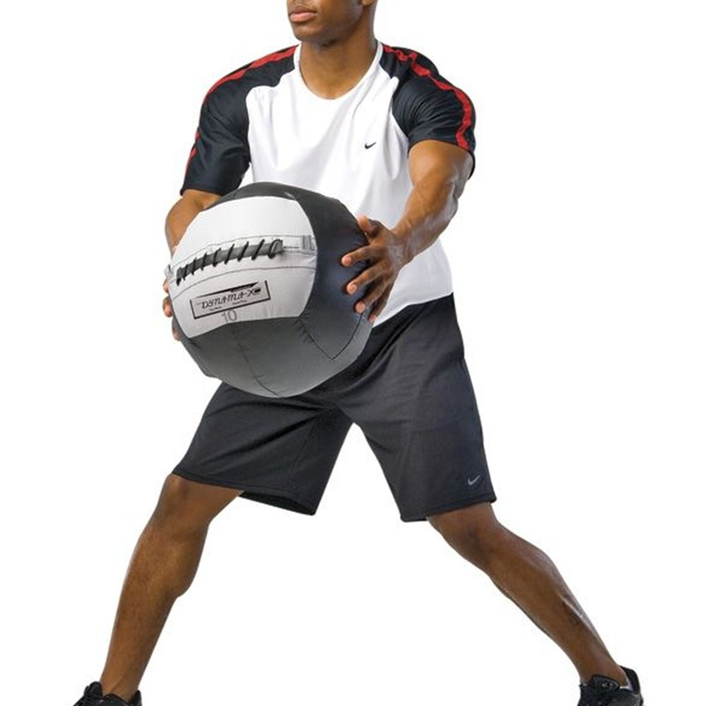 Dynamax Medicine Ball, Stout I, 12 Pounds, Black/Gray (24012)