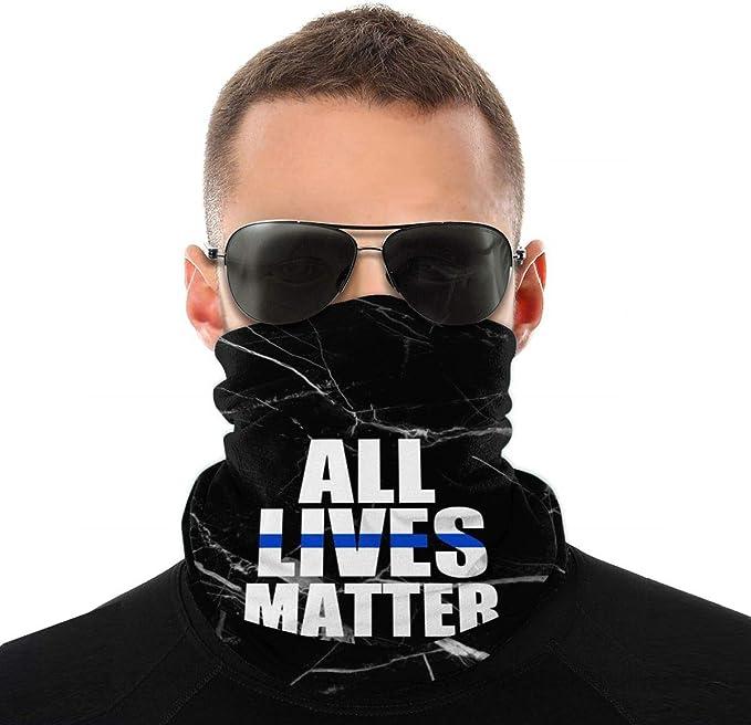 American All Lives Matter Neck Gaiter//Buff