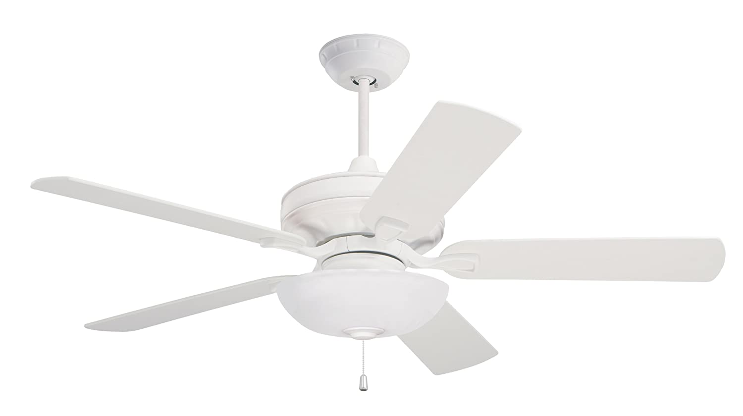 Emerson Ceiling Fans CFSW Bella Indoor Ceiling Fan Inch - White kitchen ceiling fan with light