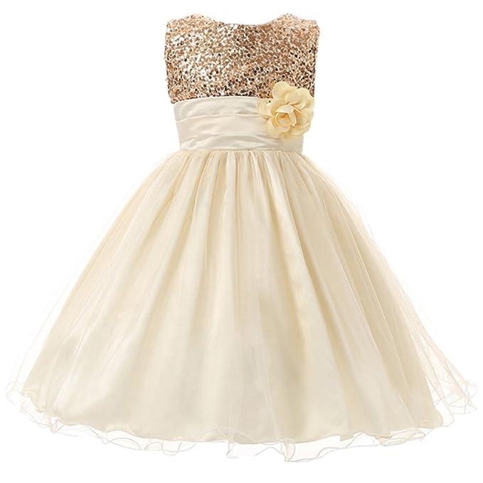 Amazon.com: Csbks - Vestido de fiesta de tul con lentejuelas ...