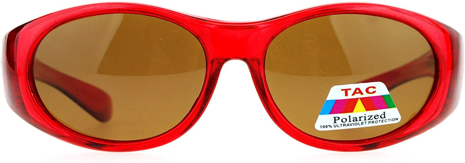 Kids Polarized Fitover Sunglasses Over the Glasses Shades for Boys Girls