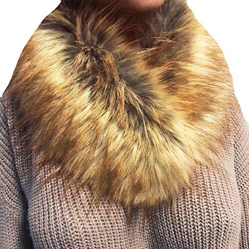 HULKAY Women Scarf Sale Clearance Premium Fashion Wrap Collar Imitation Wool Neckerchief(Gold)