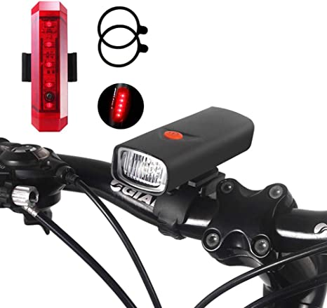 USB Rechargeable Night Light Mountain Bike Bicycle Cycling Front Light Tail Lamp