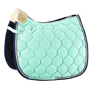 Wither Riser Pad Saddle Pad White Faux Fur FREE UK SHIPPING