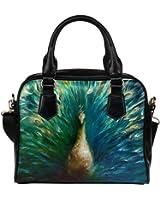 Angelinana Custom Women's Handbag Peacock Fashion Shoulder Bag
