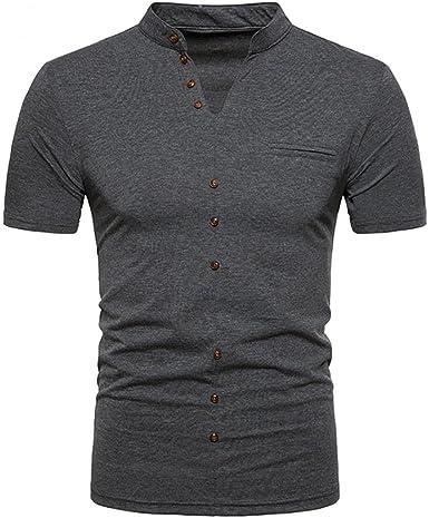 Venmo Hombres Verano Casual V Cuello Manga Corta de Camisetas Ropa ...