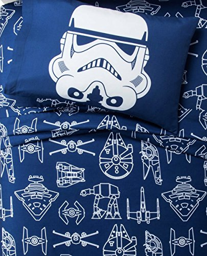 Star Wars Blue & White Icon Sheet Set (Twin) - Star Wars Sheets