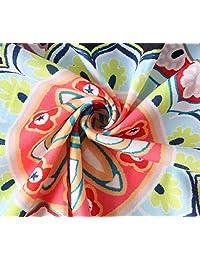 AEL Vestido sin mangas con cuello redondo, estampado floral, sin mangas, casual, con bolsillos