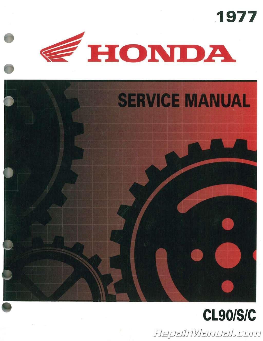 6220003 1964-1977 Honda S90 CL90 C90 CD90 CT90 CL90L Motorcycle Service  Manual: Manufacturer: Amazon.com: Books