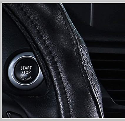 Amazon.com: ZJWZ Sheepskin Steering Wheel Cover Universal Size 37-39Cm,Black: Kitchen & Dining