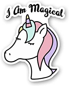 I Am Magical Unicorn Sticker Funny Unicorn Quote Stickers - Laptop Stickers - 2.5 Inches Vinyl Decal - Laptop, Phone, Tablet Vinyl Decal Sticker S214491