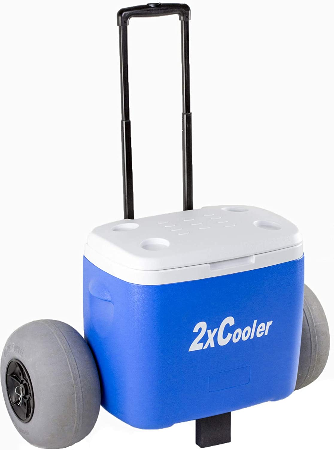 All Terrain Coolers Wheeled Cooler with Inflatable Tires Perfect for The Beach