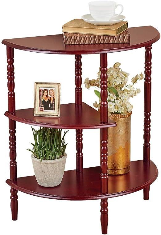Collections Etc - Estantería y mesa de consola de media luna de tres pisos, Home Accents: Amazon.es: Juguetes y juegos