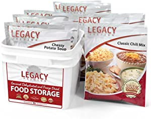 Long Term Gluten Free 72 Hour Emergency Food Kit: 32 Large Servings - 9 lbs Disaster Prepper Freeze Dried Meals - Disaster Insurance Supplies with 25 Year Shelf Life