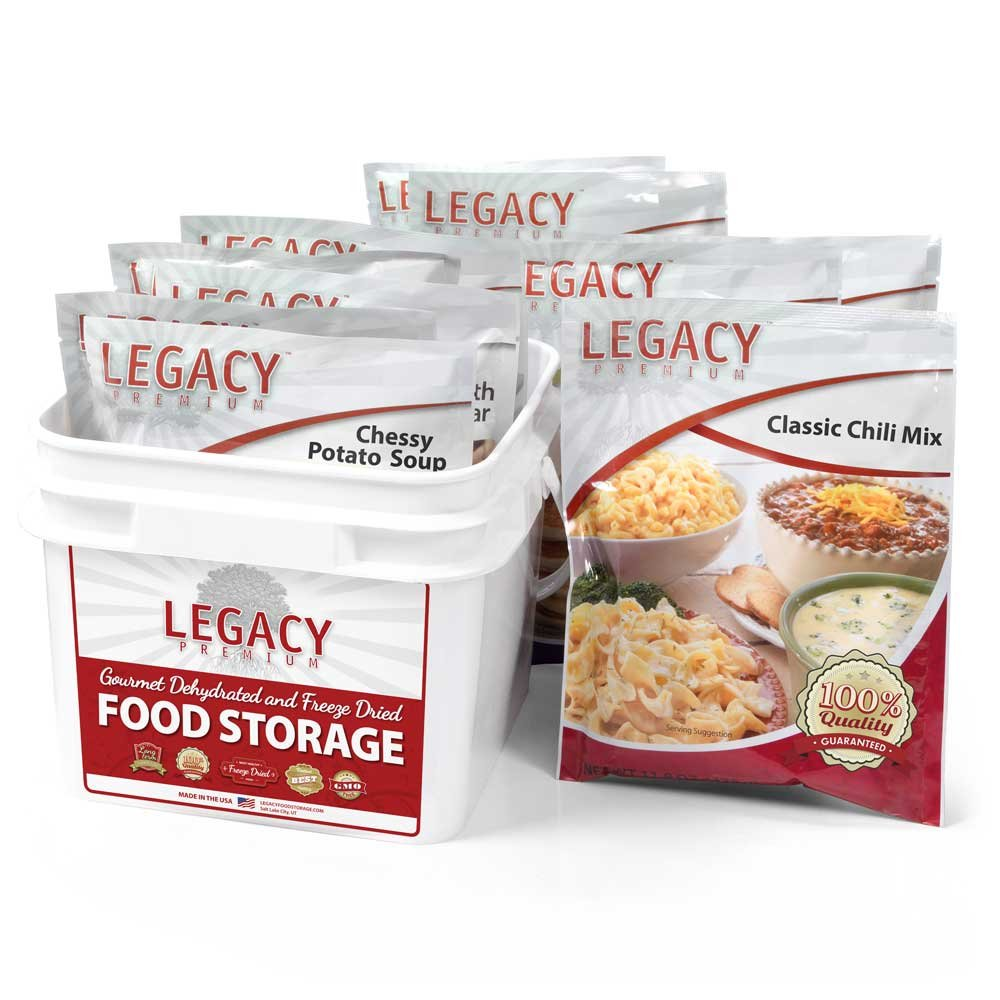 Long Term Gluten Free 72 Hour Emergency Food Kit: 32 Large Servings - 9 lbs Disaster Prepper Freeze Dried Meals - Disaster Insurance Supplies with 25 Year Shelf Life by Legacy Premium Food Storage