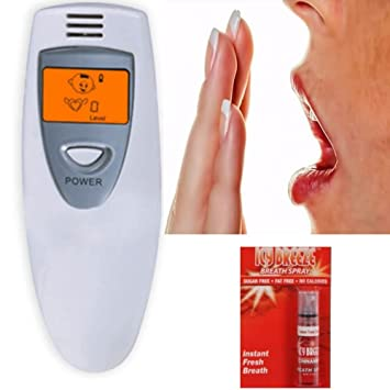 Best Bad Breath Tester - Hand Held Portable Detector With Lighted LCD Screen - Discreet Odor