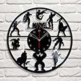 """Handmade"" Marvel Vinyl Record Wall Clock Fan Art Decor Unique Decorative Vinyl Clock 12″ (30 cm) For Sale"