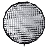 Pro Studio Solutions EZ-Pro 32in (80cm) Collapsible Beauty Dish and Softbox Combination with Eggcrate Grid with Balcar, Alien Bees, Einstein, White Lightning and Flashpoint I Stobes