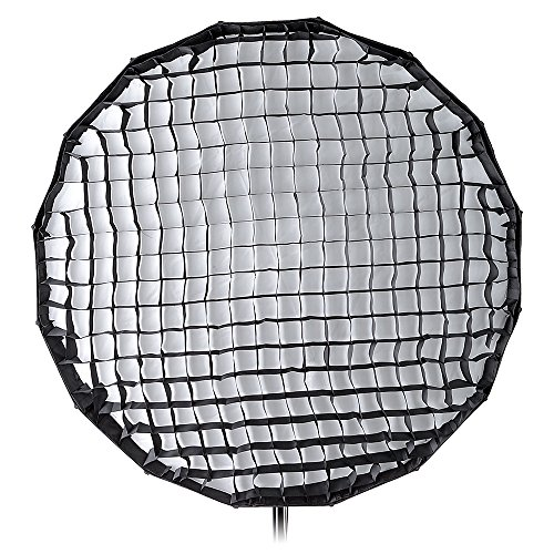 Pro Studio Solutions EZ-Pro 32in (80cm) Collapsible Beauty Dish and Softbox Combination with Eggcrate Grid with Balcar, Alien Bees, Einstein, White Lightning and Flashpoint I Stobes by Fotodiox