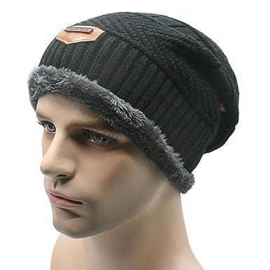CXW Beanies Knit Men s Winter Hat Caps Skullies Bonnet Winter Hats For Men  Women Beanie Fur eee4b47e236