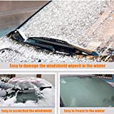 MATCC Car Windshield Snow Cover & Sun Shade Protector with Cotton Thicker Snow Protection Cover Fits Most of Car