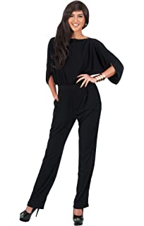 10ee57daf40 KOH KOH Womens Short Sleeve Sexy Semi Formal Cocktail One Piece Jumpsuit  Romper