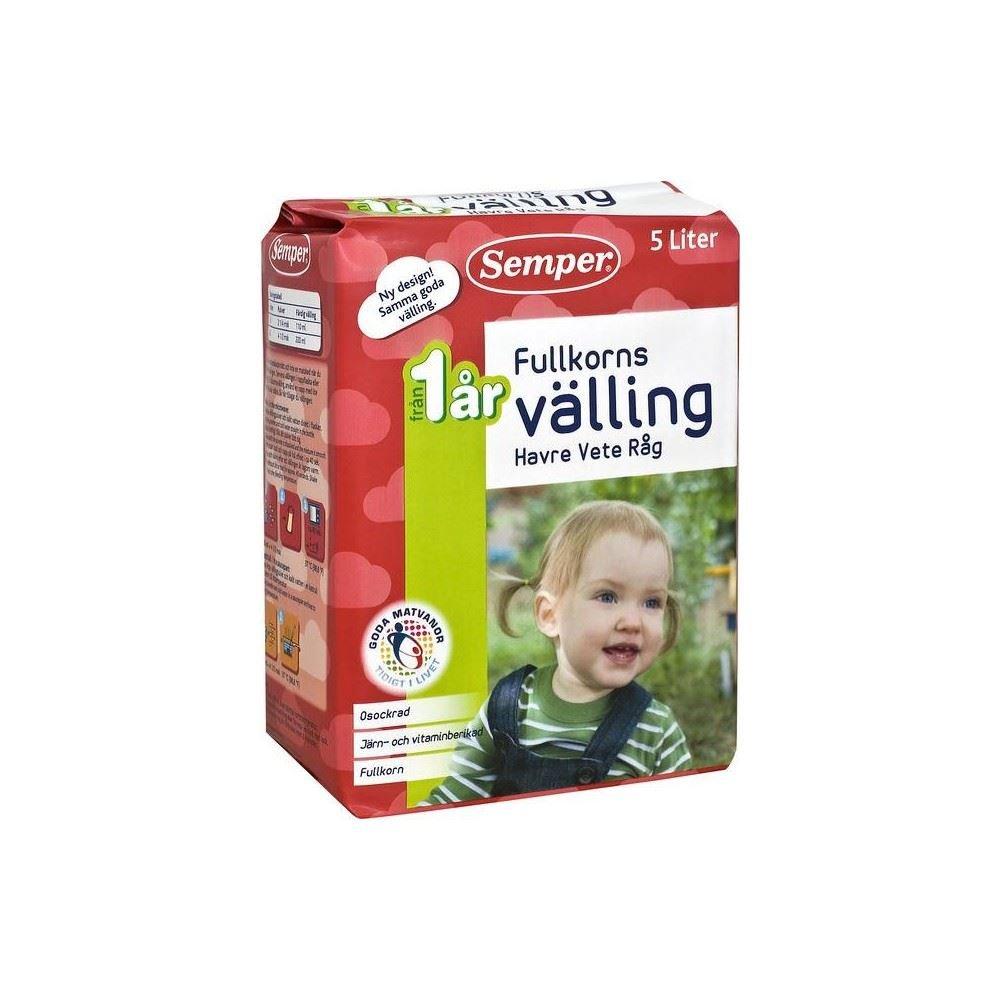 Semper Fullkorn Valling Wholemeal Baby Cereal Drink 1yr+ (725g) - Pack of 6