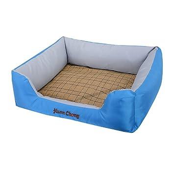 DSAQAO Cama Cajón del Perro para el Verano, Prueba del Rasguño Resistente al Agua Lavable