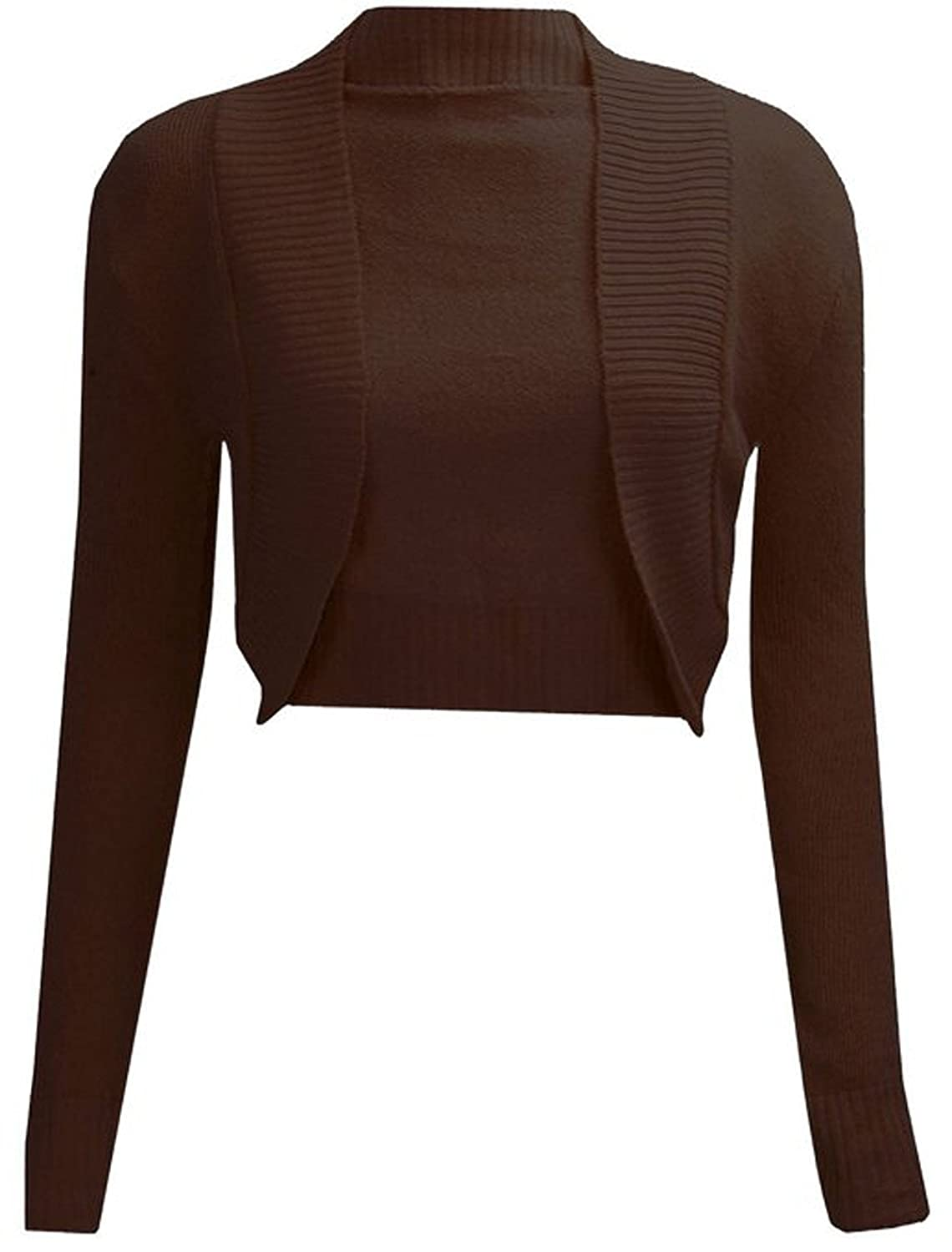 FashionMark Womens Long Sleeves Knitted Bolero Shrug Cardigan Top