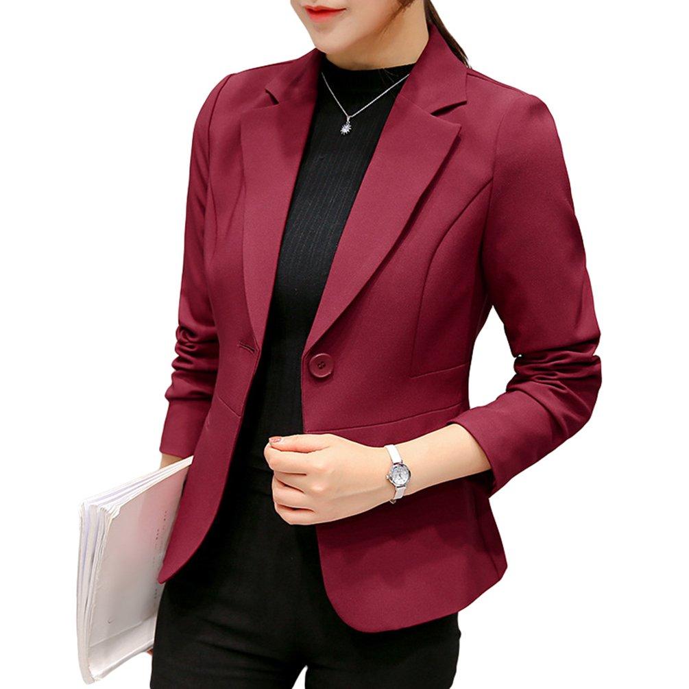 YiLianDa Donna Ufficio Casuale Tailleur Elegante Corto Blazer Carriera Tailleur Giacca
